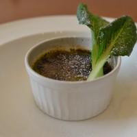 小松菜のクレームブリュレ