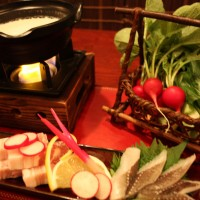 彩り野菜の和風フォンデュ