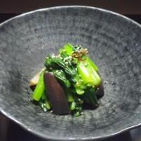 小松菜と茄子のピリ辛のナムル